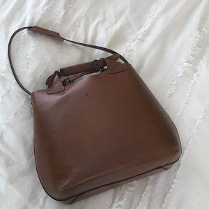 Zara Buffalo Leather Tote Bag (Cognac)